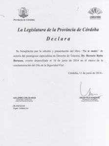 Documento de Legislatura de Córdoba
